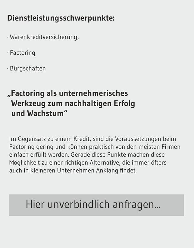 Factoring Anfrag für Deutschland
