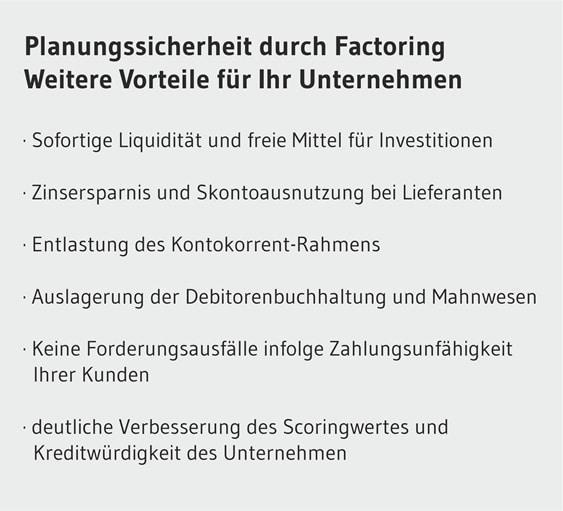 Rechnung-Vorfinanzierung in Deutschland